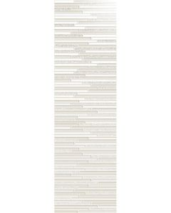 "Ottimo Ceramics - Intuition: White Deco 12""x40"" - Ceramic Wall Tile"