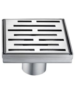"Dawn® Amazon River Series - Square Shower Drain 5""L"