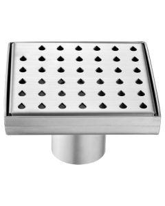 "Dawn® Nile River Series - Square Shower Drain 5""L (Stamping technique & press in the base)"