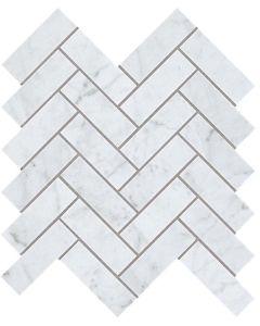 "Atlas Concorde - Eon: Carrara 12""x12"" Harringbone - Porcelain Mosaic"