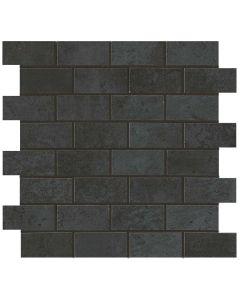 "Atlas Concord - Forge: Steel 12""x12"" - Porcelain Brick Mosaic"