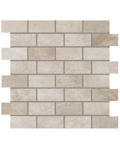 "Atlas Concord - Forge: Tin 12""x12"" - Porcelain Brick Mosaic"