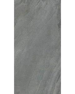 """LDI - Geologic: Metal Black 11""""x47"""" - Polished Porcelain Tile"""