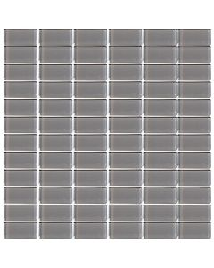"LDI - Glassique: Steel 12""x12"" - Glass Mosaic"