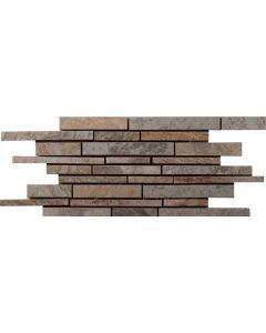 "Ldi - MOdern Slate: Winter 6""x24"" - Ceramic Mosaic"