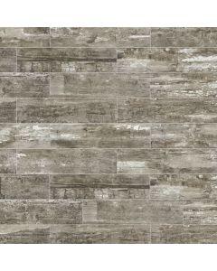 "LDI - Railwood: Salvaged Grey 9""x36"" - Porcelain Tile"