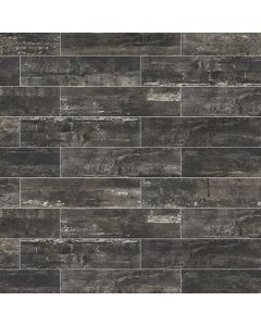 "LDI - Railwood: Weathered Black 9""x36"" - Porcelain Tile"