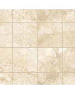 """LDI - Reale Travertino: Ivory 12""""x12"""" - Ceramic Mosaic"""