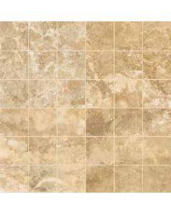 "LDI - Reale Travertino: Walnut/Noce 12""x12"" - Ceramic Mosaic"