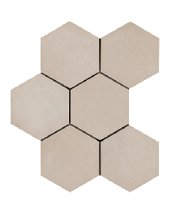 "LDI - Rewind: Corda Hexagon 8""x8"" - Porcelain Mosaic"