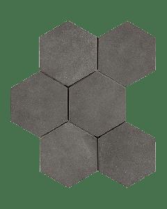 "LDI - Rewind: Peltro Hexagon 8""x8"" - Porcelain Tile"