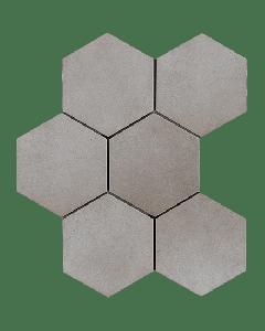 "LDI - Rewind: Polvere Hexagon 8""x8"" - Porcelain Mosaic"