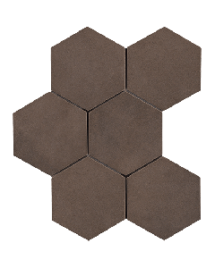 "LDI - Rewind: Tabacco Hexagon 8""x8"" - Porcelain Mosaic"