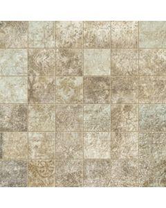 """LDI - Villa Medici: Grey 2""""x2"""" - Porcelain Mosaic"""