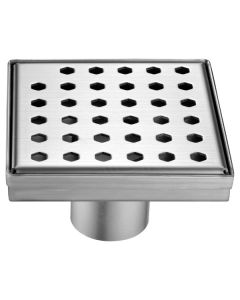 "Dawn® Thames River Series - Square Shower Drain 5""L (Stamping technique & press in the base)"