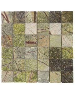 """Forest Green Polished Marble 12""""x12"""" - Marble Mosaic"""