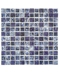 "Purple Marble/Glass 12""x12"" - Mixed Mosaic"