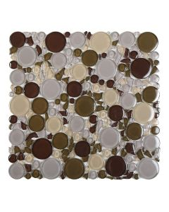 "Ottimo Ceramics - Burst: Purple Mix 12""x12"" - Glass Mosaic"