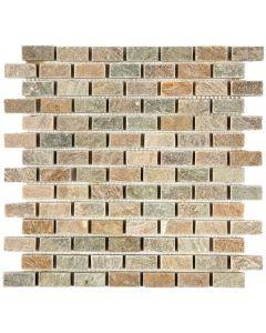 "Beige Brick 12""x12"" - Quartzite Mosaic"