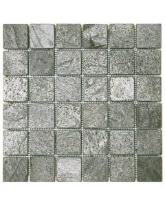 """Silver Grey Matte 12""""x12"""" - Quartzite Mosaic"""