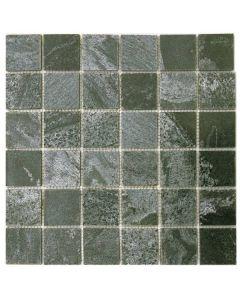 "Silver Grey Polished 12""x12"" - Quartzite Mosaic"
