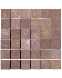 "Brown Matte 12""x12"" - Quartzite Mosaic"