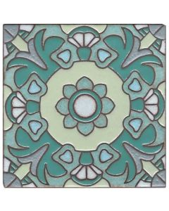 Arto Brick - Handpainted Deco: SD108GREEN - Artillo Tile