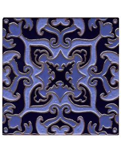 Arto Brick - Handpainted Deco: SD110DARK BLUE - Artillo Tile