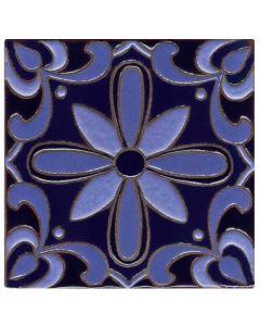 Arto Brick - Handpainted Deco: SD113DARKBLUE- Artillo Tile