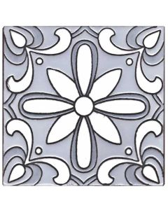 Arto Brick - Handpainted Deco: SD113GRAY- Artillo Tile