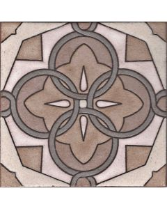 Arto Brick - Handpainted Deco: SD116TAN- Artillo Tile