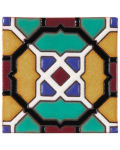 Arto Brick - California Revival: SD119A - Handpainted Deco Tile