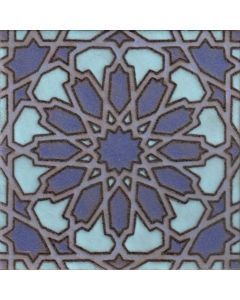Arto Brick - Handpainted Deco: SD164HBLUE- Artillo Tile