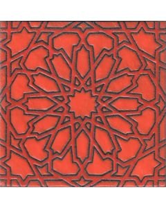 Arto Brick - Handpainted Deco: SD164HRED- Artillo Tile
