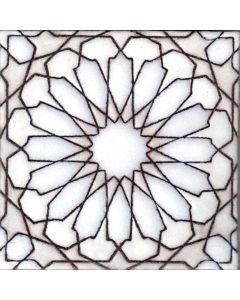 Arto Brick - Handpainted Deco: SD232HWHITE- Artillo Tile
