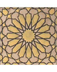Arto Brick - Handpainted Deco: SD232HYELLOW- Artillo Tile