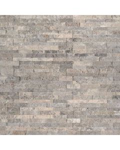 "MSI Stone - M-Series: Silver Travertine 4.5"" x 6"" - Stacked Stone Panel"