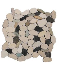 "Western Pacific - Botany Bay Pebbles: Sliced Blend 12""X12"""
