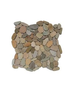 "Western Pacific - Botany Bay Pebbles: Sliced Olive 12""X12"""