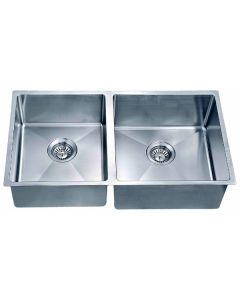 Dawn® Undermount Small Corner Radius Double Bowl Sink (Small Bowl on Left)