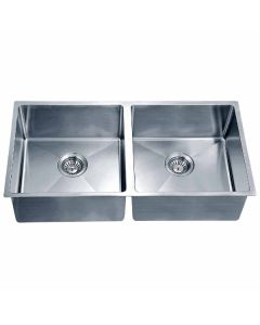 Dawn® Undermount Small Corner Radius Equal Double Bowl Sink