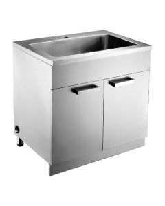 Dawn® Stainless Steel Sink Base Cabinet with Built in Garbage Can