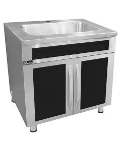 Dawn® Seamless One Piece Stainless Steel Cabinet w/ Integrated Sink