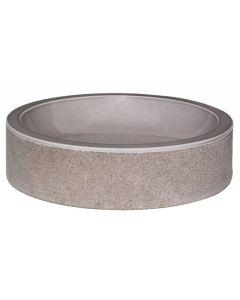 """Taupe Glazed Interior Bowl Shaped Striped Washbasin 4""""x20"""""""