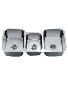 "Dawn® Undermount Triple Bowl Sink (46"" x 21"" x 9.5"")"