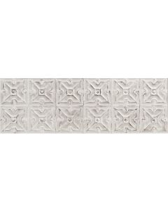 "Ottimo Ceramics - Track Art: Blanco Art 12""x36"" - Ceramic Tile"
