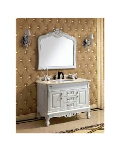 "Dawn® Traditional Style Vanity Set 42"" w/ Single Ceramic Sink"