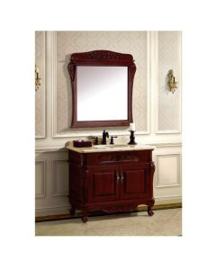 Dawn® Vanity Set: Counter Top (RTT392204-04), Cabinet (RTC382232-04), Mirror (RTM370139-04)
