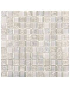 "Mix White Golf 12""x12"" - Glass Mosaic"