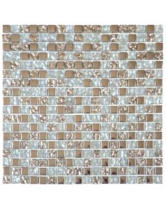 "Mix Grey Glass Inox 12""x12"" - Glass Mosaic"